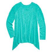 Arizona Long-Sleeve Lace-Inset Sharkbite Tunic - Girls 7-16