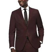 JF J. Ferrar® Enlightened Merlot Suit Jacket - Slim Fit