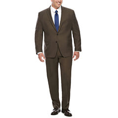 Collection by Michael Strahan Brown Sharkskin Suit Jacket or Pants -Big & Tall