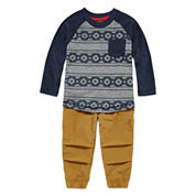 Arizona Long-Sleeve Knit Cotton Shirt or Trekking Joggers - Baby Boys 3m-24m