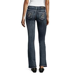 Soundgirl Destructed Slim Bootcut Jeans