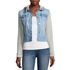 Wallflower Striped-Sleeve Jacket
