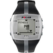 Polar® FT7 Mens Heart-Rate Monitor Chronograph Black Strap Watch