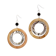 EL by Erica Lyons El By Erica Lyons Black Naturals Shell Drop Earrings