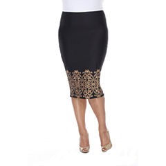 White Mark Eden Pencil Skirt Plus