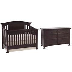 Centennial Medford 2-PC Baby Furniture Set- Espresso