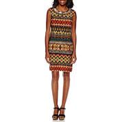 Studio 1® Sleeveless Tribal Sheath Dress
