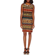 Studio 1® Sleeveless Tribal Sheath Dress