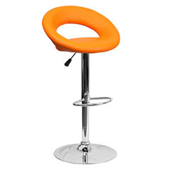 Vinyl Swivel Seat Contemporary Barstool
