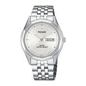 Pulsar® Mens Dress Silver-Tone Watch PJ6029