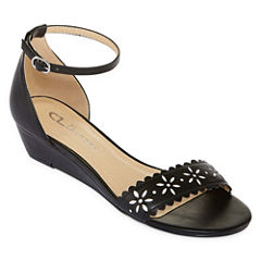 CL by Laundry Mila Womens Wedge Sandals