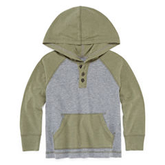 Arizona Boys Hooded Henley T-Shirt