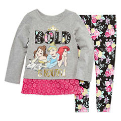 Disney by Okie Dokie 2-pc. Disney Princess Legging Set-Toddler Girls