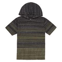Arizona Short Sleeve Hooded Henley Boys 8-20 & Husky