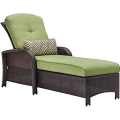 Hanover Strathmere Woven Patio Lounge Chair
