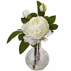 "11"" Peony With Vase 2-pc. Floral Arrangement"