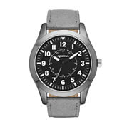 Arizona Mens Grey And Black Strap Watch