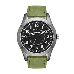 Arizona Mens Green And Black Strap Watch