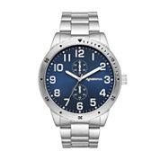 Arizona Mens Gunmetal Blue Dial Bracelet Watch