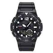 Casio® G-Shock Mens Black Analog/Digital Dive Strap Watch AEQ100W-1AV