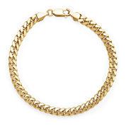 14K Yellow Gold Solid 8.5 In Grumetta Link Bracelet
