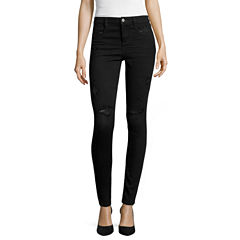 Arizona Luxe Stretch Destructed High-Rise Jeggings