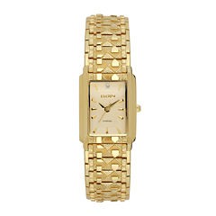 Elgin® Womens Gold Nugget Diamond-Accent Bracelet Watch