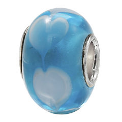 Forever Moments™ Blue Heart Charm Bracelet Bead