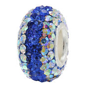 Forever Moments™ Blue and Iridescent Crystal Charm Bracelet Bead
