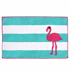 Destinations Pink Flamingo Bath Rug