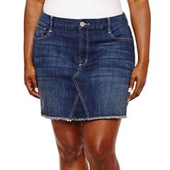 Arizona Denim Skirt-Juniors Plus