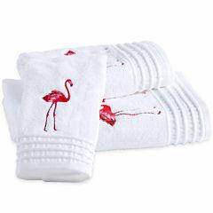 Destinations Pink Flamingo Bath Towel