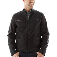 Dockers® Faux-Leather Racer Jacket