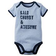 Carter's® Short-Sleeve Bald Chubby & Awesome Bodysuit - Baby Boys newborn-24m