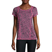 Xersion™ Short-Sleeve Space-Dye Elastic-Back Tee