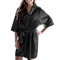 Cathy's Concepts Personalized Satin Satin Kimono Robes