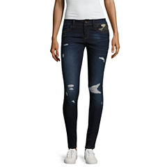 Rewash Piped Camo Skinny Jeans-Juniors