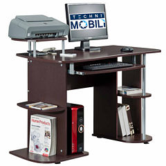 rta products llc techni mobili complete computer workstation desk with