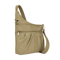 Travelon Anti-Theft Signature 3 Compartment Cross Body Bag Crossbody Bag