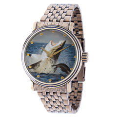 Discovery Expedition Mens Gold-Tone Shark Bracelet Watch