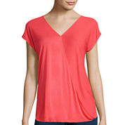 i jeans by Buffalo Short-Sleeve Drape-Front Top