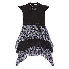 Short Sleeve Cap Sleeve Descendants A-Line Dress - Big Kid Girls