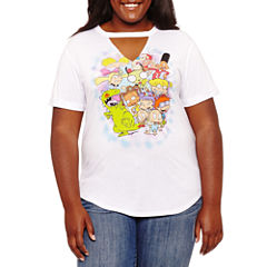 Short Sleeve V Neck Graphic T-Shirt