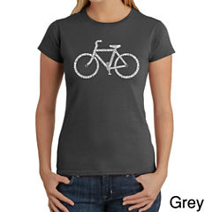 Los Angeles Pop Art Save A Planet; Ride A Bike Graphic T-Shirt