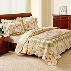 Greenland Home Fashions Bliss Floral Quilt Set