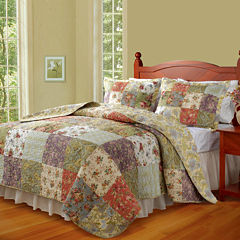 Greenland Home Fashions Blooming Prairie Quilt Set & Accessories