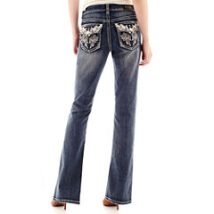 Love Indigo Wing Back Flap Pocket Jeans