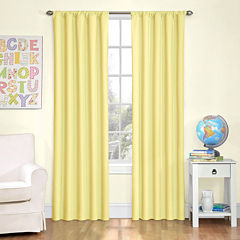 Eclipse® Kids' Kendall Rod-Pocket Blackout Curtain Panel
