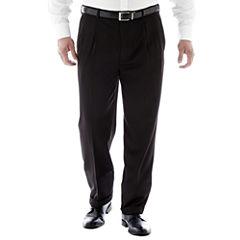 Stafford® Travel Endurance Pleated Pants–Big & Tall
