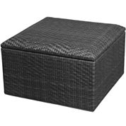 Outdoor Wicker Storage Ottoman